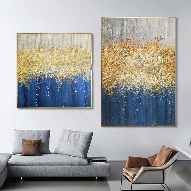 Modern Oil Painting Minimalist Abstract Art Work Living Room Sofa Background Wall Decoration Light Luxury Hand Painting Painting