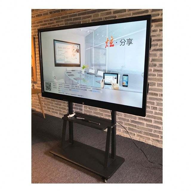 86 pollici 4k intelligente A LED touchscreen interattivo mobile pc di bordo intelligente schermo piatto per <span class=keywords><strong>aula</strong></span>/ufficio