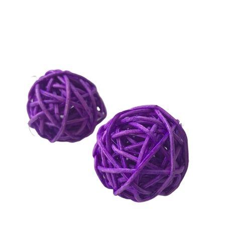 Custom woven Weihnachten dekoration farbe wicker rattan ball für reed diffusor