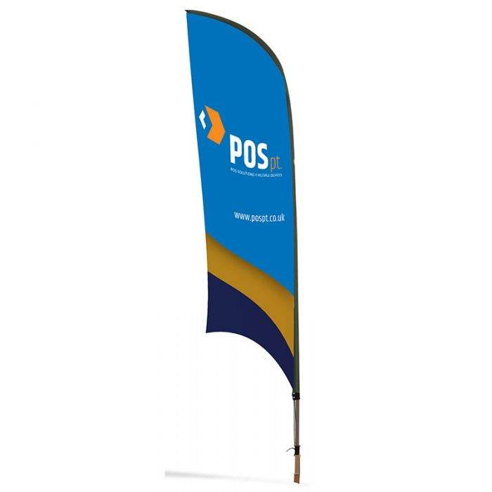 14FT Dye Sublimated Fabric Beach Flag For Outdoor Events