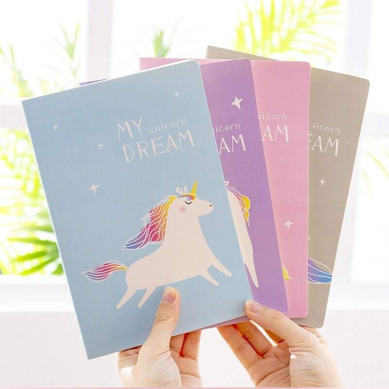 A5 Fantasy Girl Unicorn Notebook Student Portable Diary Horizontal Line Office Supplies