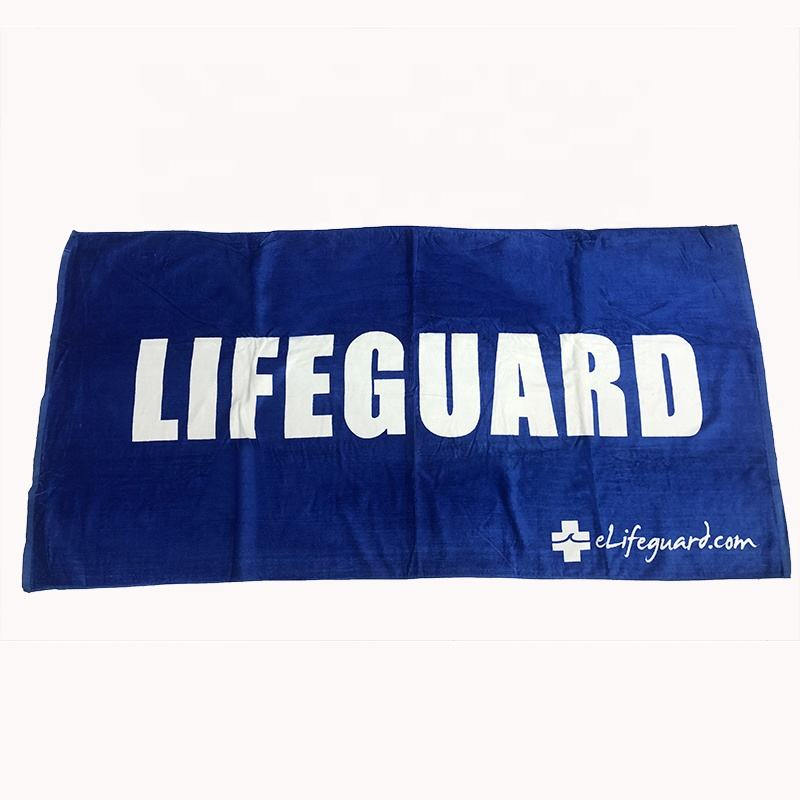 Custom High Quality Reactive Printing Cotton Velour Beach Towels With Logo