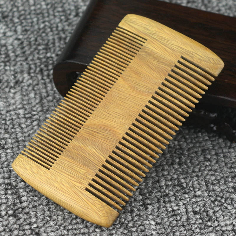 HX04 Fine and Coarse Teeth Anti-Static Pocket ,thick hair Comb for Use with Balms and Oils