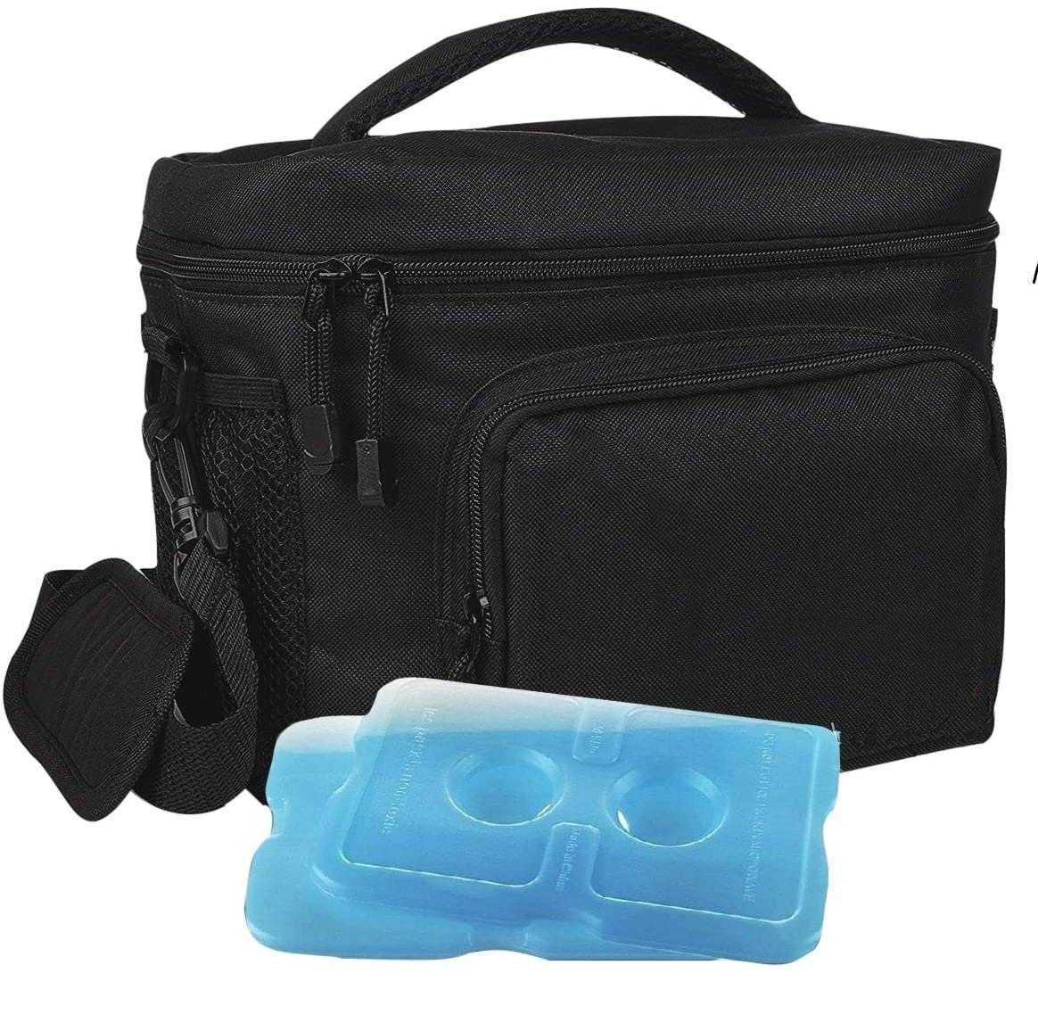 무료 샘플 절연 점심 가방 쿨러 토트 쿨러 아이스 팩 쉬운 점심 가방 병 여행 캠핑 가방