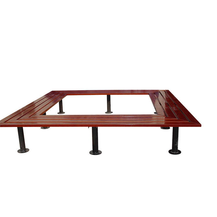 custom made loop outdoor school wooden large ring garden island corner bench seating