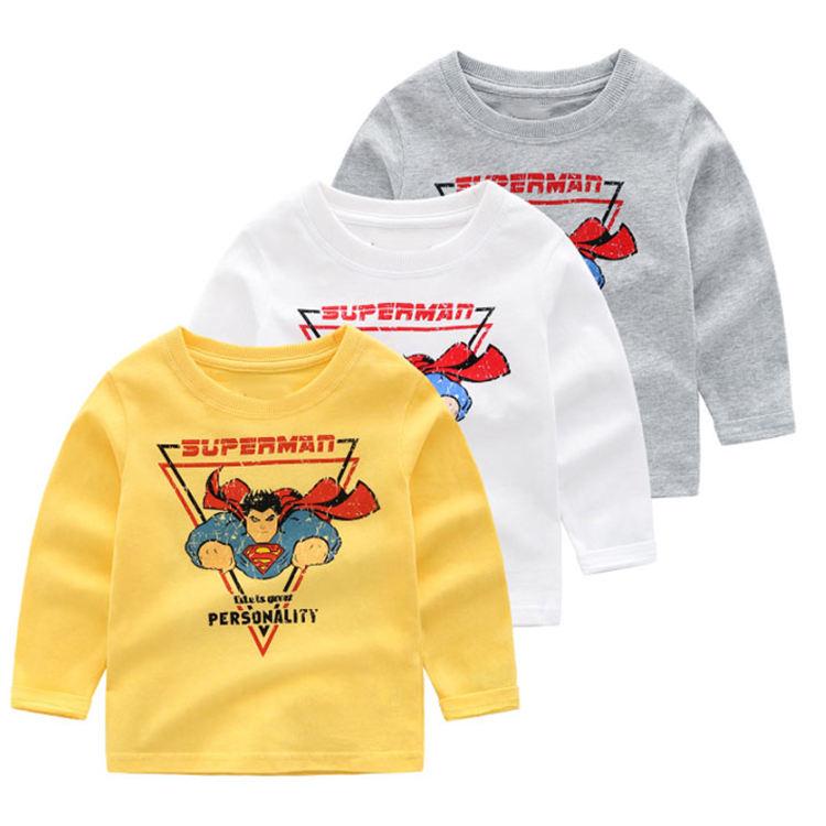 рисунком ракеты для маленьких мальчиков, футболка с круглым вырезом и цветным рисунком для мальчиков на осень