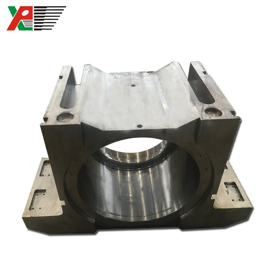 Cement Workshop Trunnion Bearing Ball Mill Axletree Casting Block Bearing