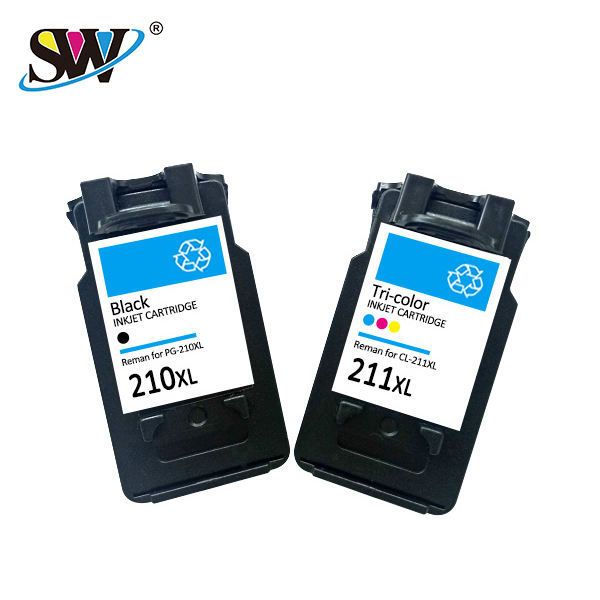 Senwill factory recycled wholesale inkjet cartridge 210 211 premium quality for <span class=keywords><strong>CANON</strong></span> inkjet printers