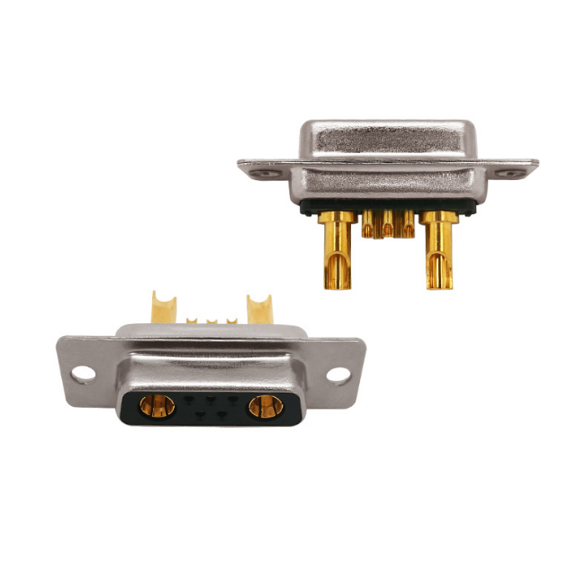High Power D-SUB 7W2 Female Solder Type Connector für Communication Energy