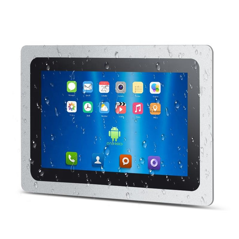 3MM Bezel Tahan Air Tertanam RS232 <span class=keywords><strong>Ethernet</strong></span> Wifi <span class=keywords><strong>android</strong></span> mini komputer 10 inch Industri panel pc