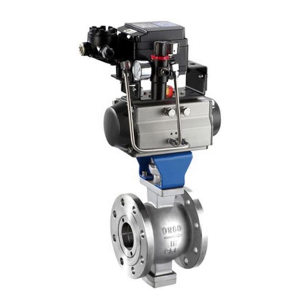 COVNA V 포트 볼 밸브 장착 4 20 mA 나사 유형 전기 공압 포지셔너