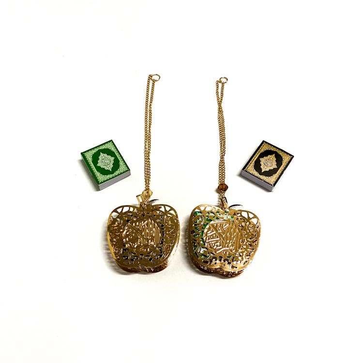 En forma de caja pequeña de doble cara punto taladro árabe musulmana <span class=keywords><strong>Corán</strong></span> islámico regalo del Festival