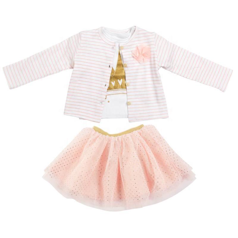 Возраст от 3 месяцев; Нарядные платья для маленьких девочек; Комплект из 3 предметов 100%, детское платье из хлопка для девочек