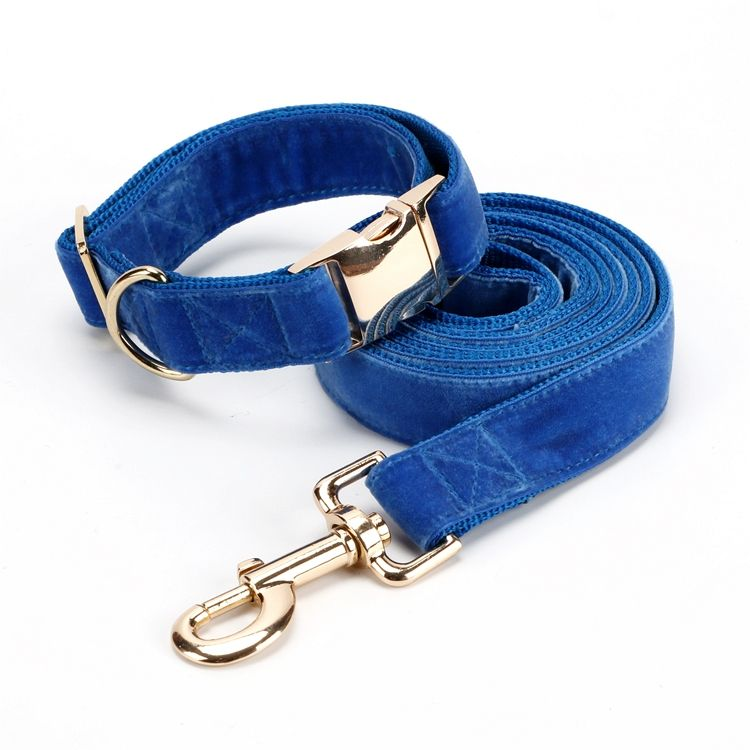 OEM/ODM Available Pet Supplies Dog Collar and Leash Set Velvet Soft Material Pet Products