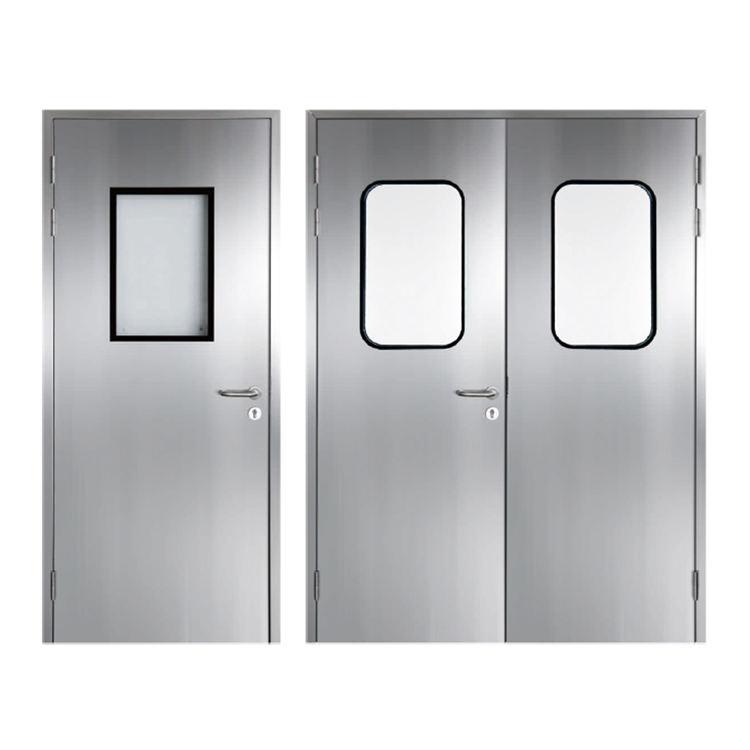 Alto estándar de alimentos o la industria de acero inoxidable para sala limpia de puerta y ventana con marco
