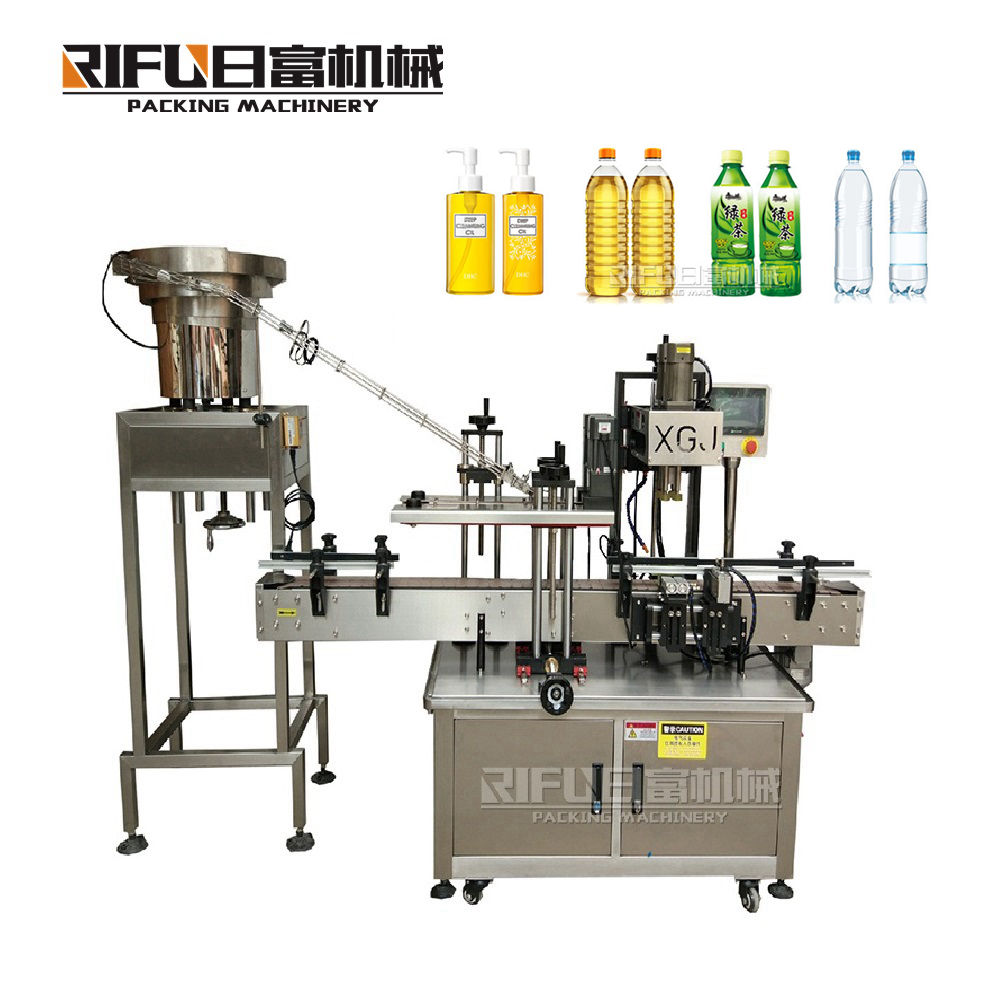 automatic Clamp bottle neck washer and screw capper group unit capping machine with high quality