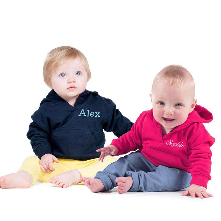 Одежда для новорожденных; Простые милые толстовки с вышитыми буквами; Осенне-зимняя Толстовка для малышей
