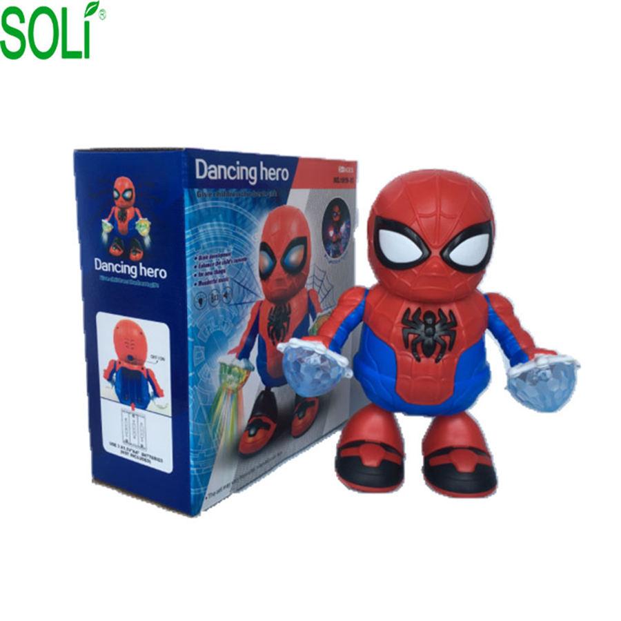 2019 nuevas llegadas El hombre araña de juguete/regalo de Navidad/baile de juguete con luz para niños de Juguetes para los niños