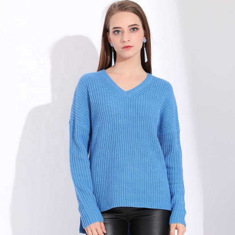 Вязаный V средства ухода за кожей шеи розовый свитер для женщин пуловеры для Винтаж Зима женщина свитер Вязание пуловеры