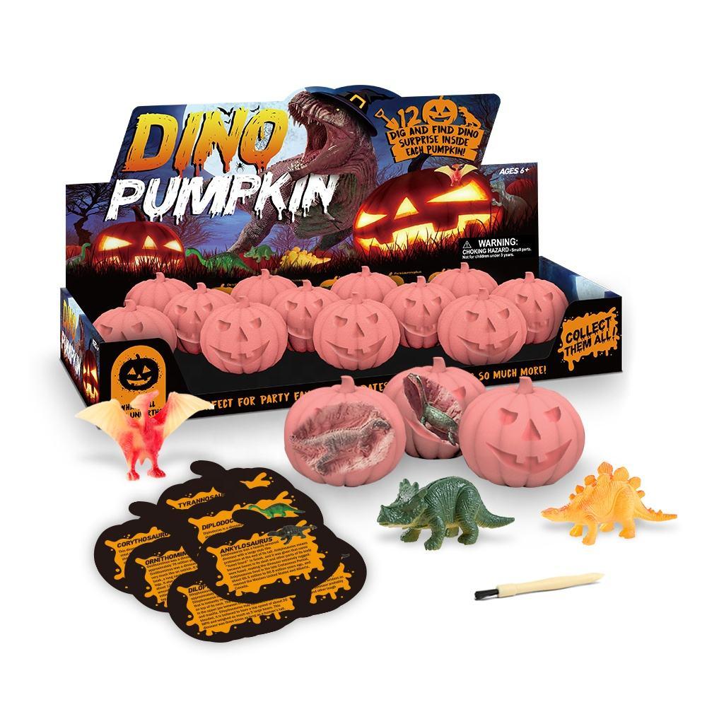 Wissenschaft Geschenk Dinosaurier Eier Dig Kit Halloween Asscesories Jack-O-Laternen Kürbis 12 Dinosaurier Ausgrabung Kits