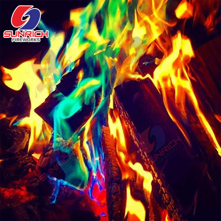 Party Camping Mystical Color Fires Magic Tricks Coloured Flames Bonfire Xmas Fire Works Fireplace magical fire powder