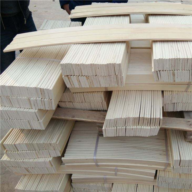 Wooden bed slats used for bed base frame board