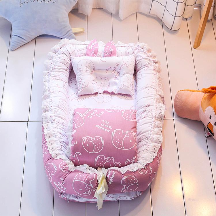 кровать из мягкого хлопка, легко чистится младенцев кроватки 100% хлопк
