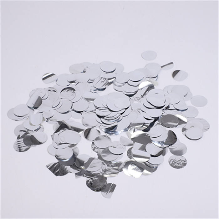 <span class=keywords><strong>20</strong></span> G/Bags festivales hoja de plata a granel redondo tejido de fiesta de papel confeti