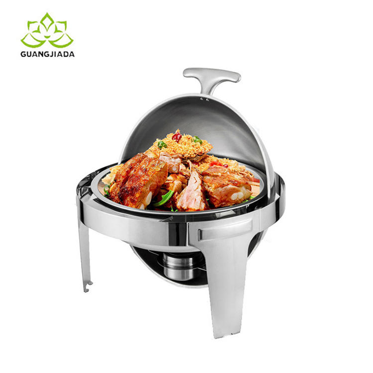 High Quality Stainless steel top round chafing dish food warmer