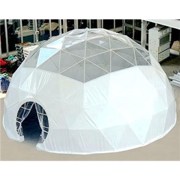 30 m de diámetro grande al aire libre a prueba de agua carpa de cúpula geodésica con cubierta de PVC