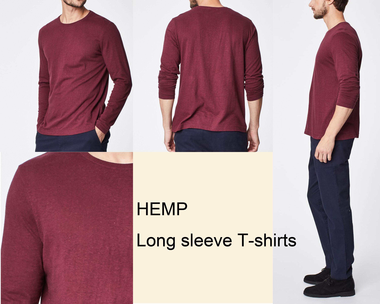 Oansatz klassische plain t-shirt langlebig <span class=keywords><strong>hanf</strong></span> und organische baumwolle mischung wochenende stil <span class=keywords><strong>hanf</strong></span> kleidung