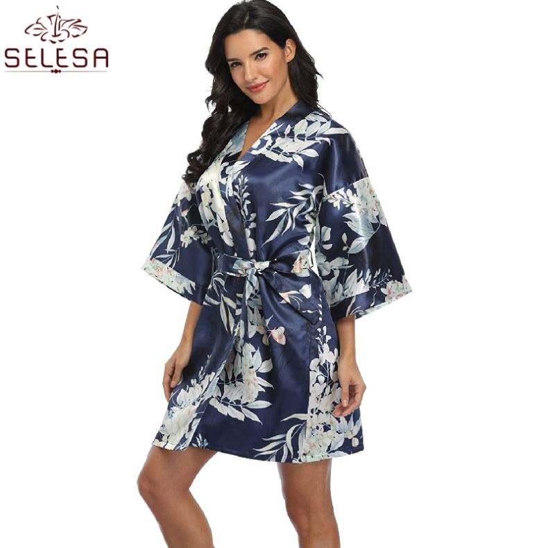 Bo te De Nuit Des Vetements sıcak satış moda yaz yumuşak <span class=keywords><strong>pamuk</strong></span> Waffle otel ev bornoz kadın pijama