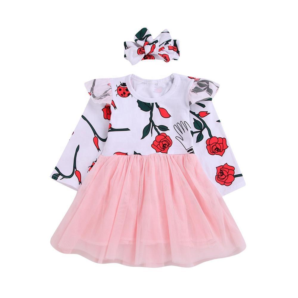 Привередливый бутик для маленьких девочек новые принты Туника Рубашки с рюшами рукава летняя детская одежда для девочек