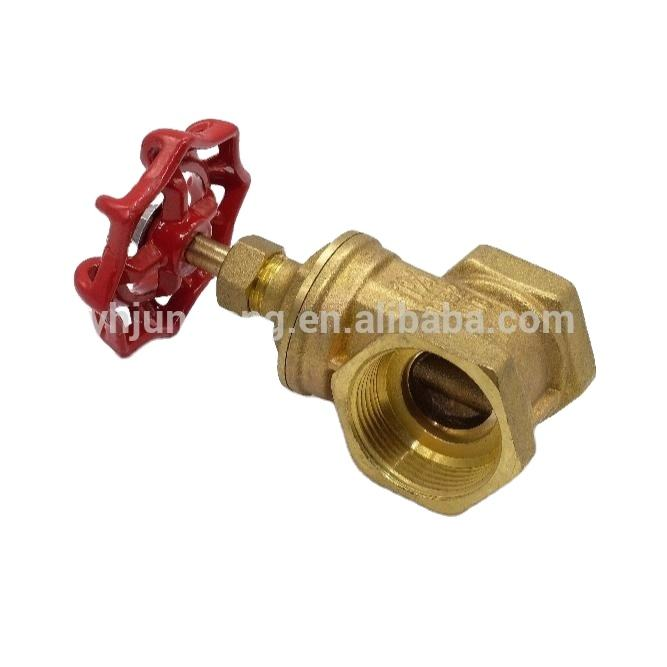 Short delivery date wholesale forged red handle brass gate valve