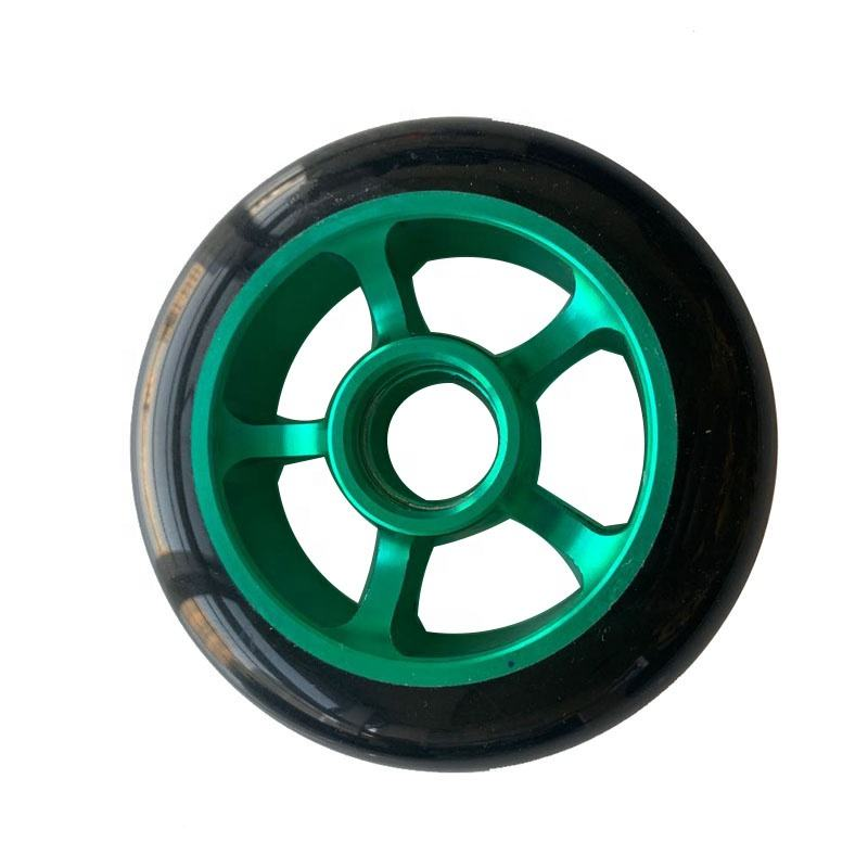 High Rebound Skate Aluminum合金コアWheel Speed Skate PU Wheel Roller 100 × 24ミリメートルScooter Replacement Wheels