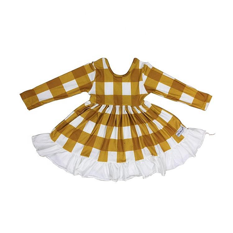 الأطفال الملابس 2019 جديد وصول المنتج الفتيات طويلة كم شريط القطن اللباس الجملة الفتيات الربيع فستان <span class=keywords><strong>بوتيك</strong></span>