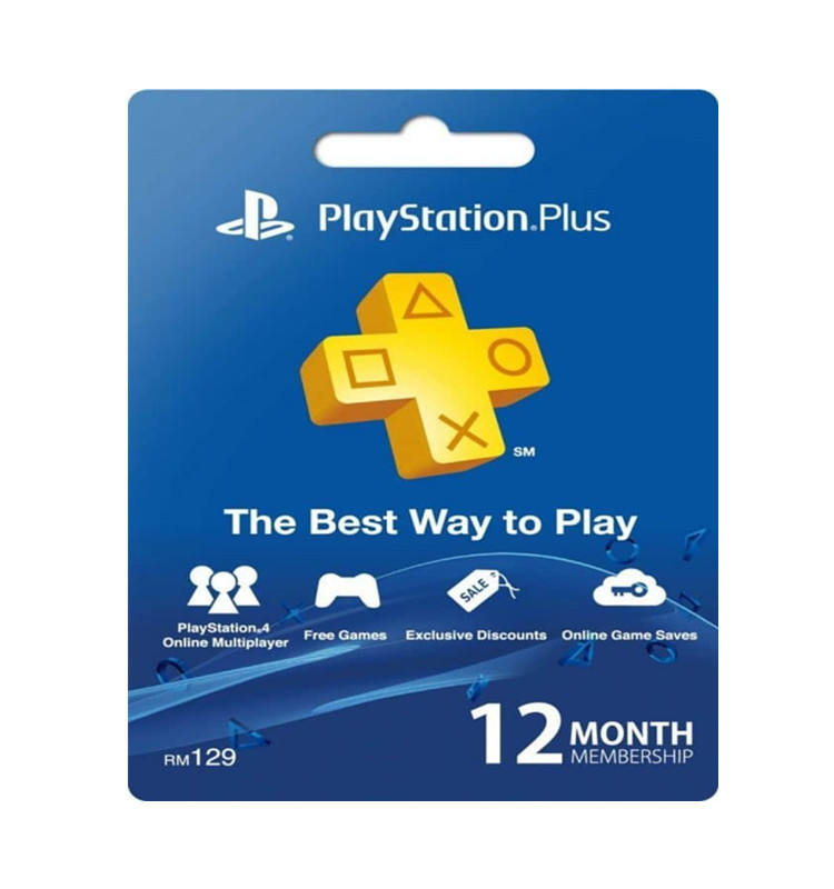 PSN plus 3month / 6month / 1year gold member gift card