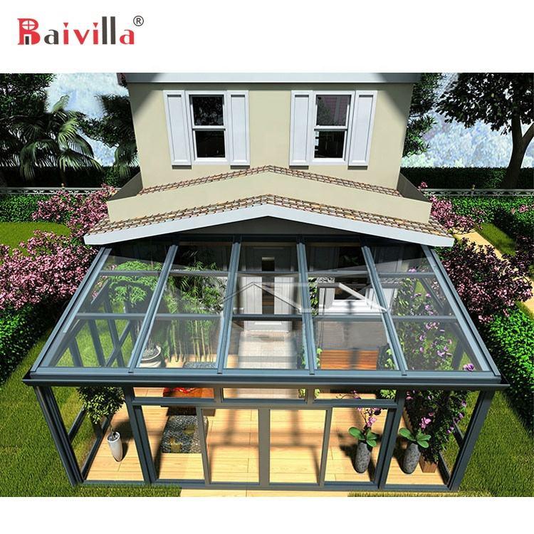 알루미늄 합금 커버 프레임 현대 유리 주택 베란다 Sunroom 강화 유리