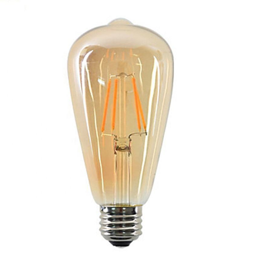 Amber Glas Led Gloeilamp ST64 4W Decoratieve Dimbare Gloeilamp 220V