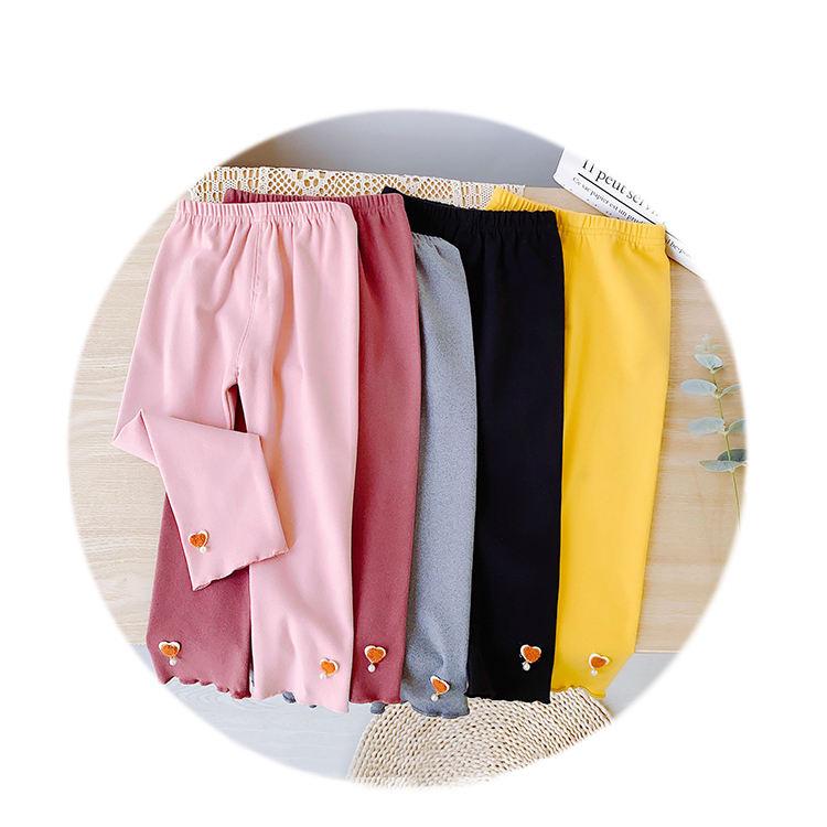 Осень 2020, новинка, Детские однотонные хлопковые брюки для малышей, леггинсы для маленьких девочек