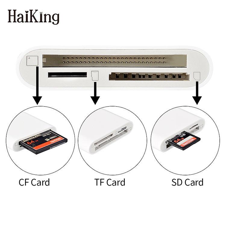 3 1 で iPhoneXS CF SD TF データ転送最大、 iPad カードリーダー Otg カメラ接続キット