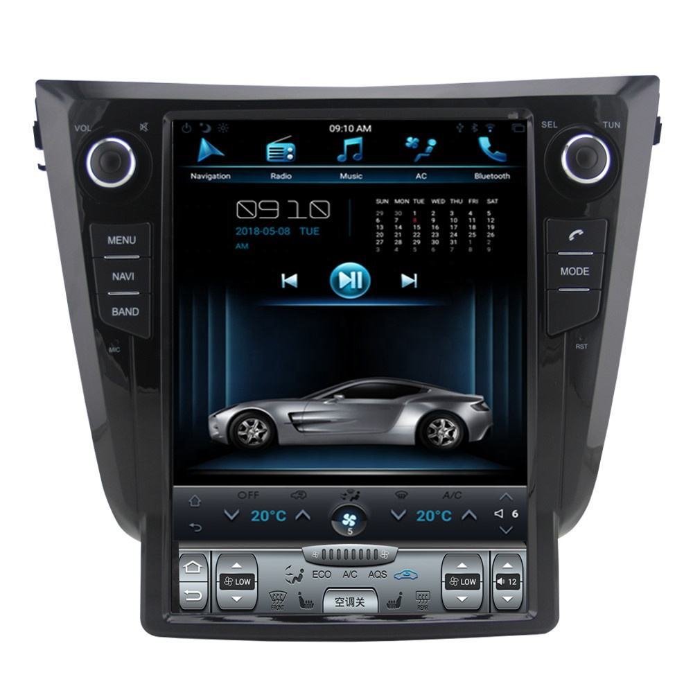 12.1 inch vertical screen Android 9.0 Car DVD For Nissan Qashqai X-trail 2013 2014 2015 2016 2017 with 360 Camera Tesla style