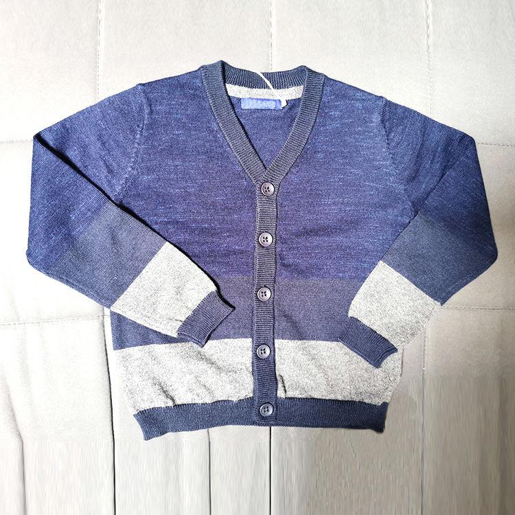 Осенне-зимний детский кардиган однобортный вязаный жакет для мальчиков и девочек 4-10 лет свитер-кардиган