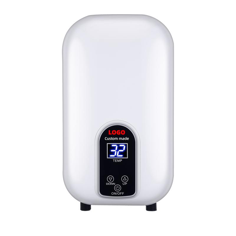 1.5Kw-3.5Kw نقطة استخدام ثرموستات كهربي سخان مياه تدفق درجة حرارة ثابتة
