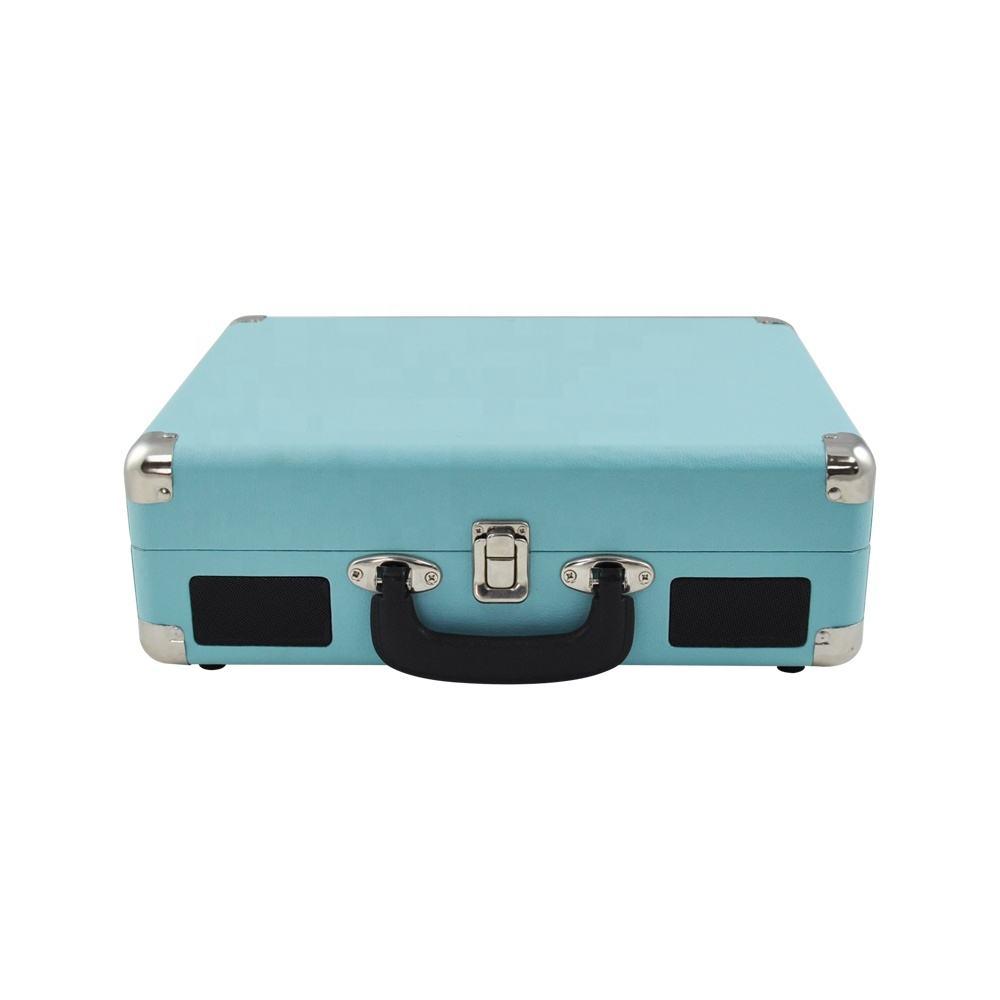 Boîtier en bois de mode valise style 3 vitesses platine vinyle platine vinyle