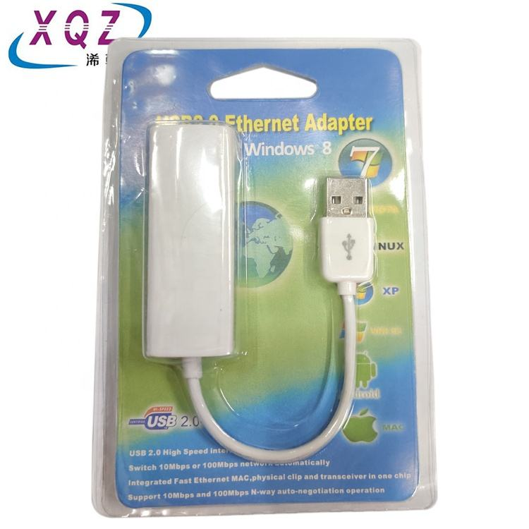 USB LAN card USB2.0 to ethernet RTL9900 100Mbps/10Mbps without driver CD free