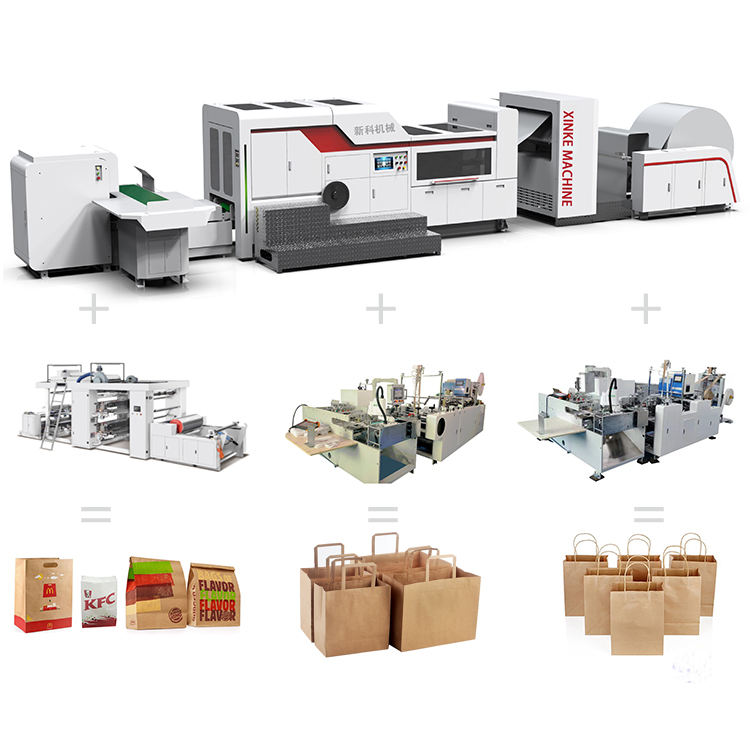 Window attached paper bag machine equipment new hot sale mechanical type paper bag machine