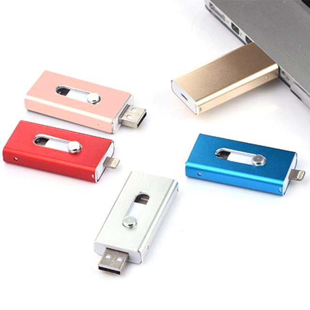 Neue Design Otg Externe Drei in Einem Groß Ios Usb Sticks 128gb Rutsche Flash-Speicher Für iPhone iPad Handys computer