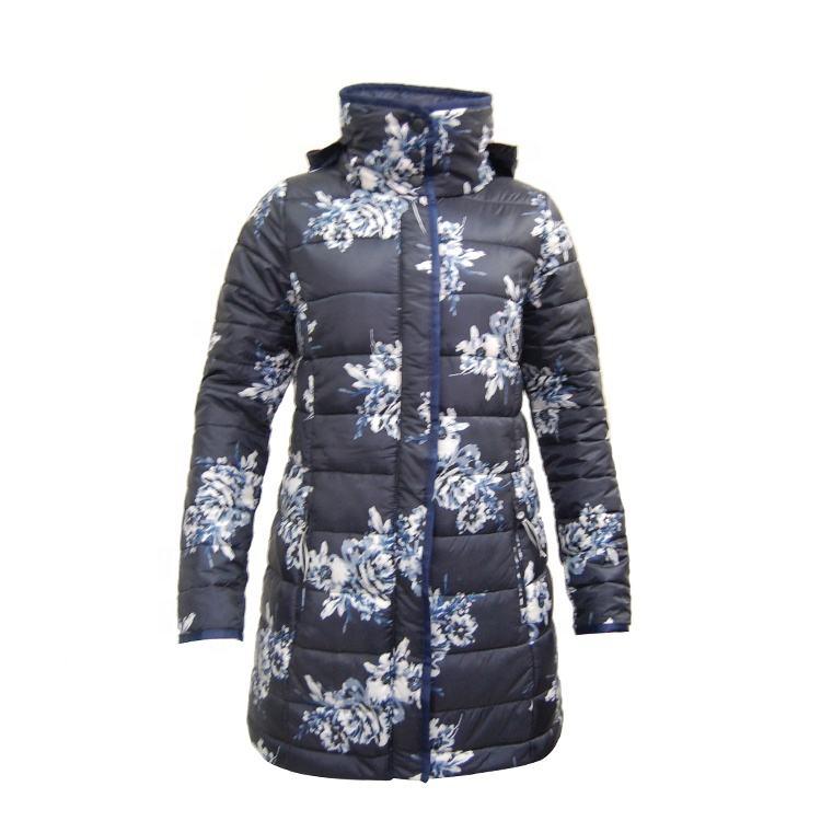 Женские Длинные куртки-пуховики с логотипом на заказ, большие размеры
