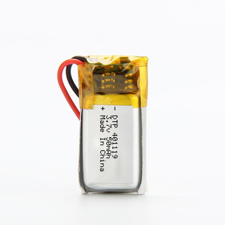 Có Thể Sạc Lại Micro 401020 401119 3.7 V 50 MAh Li Polymer <span class=keywords><strong>Pin</strong></span>